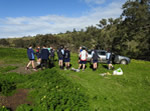 5 Melton Secondary College students planting beside Werribee River at PinkertonFlat th